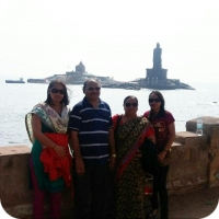 Family enjoying view at Vivekananda rock memorial kanyakumari