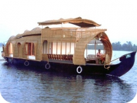 Evening on a kerala houseboat
