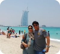 Couple in front of Burj al Arab
