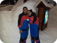 Couple at Snow World Dubai in Mall of Emirates